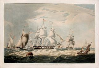 The Right Honourable Lord Yarborough's yacht, The Falcon of 351 tons. After William John HUGGINS