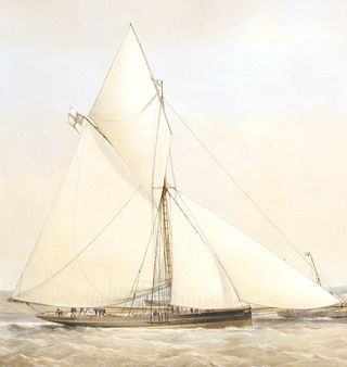 [The Prince of Wales Yacht Dagmar in coastal waters off the Isle of Wight]