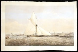 The Prince of Wales Yacht Dagmar in coastal waters off the Isle of Wight]. Thomas Goldsworth...