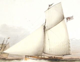 {rtf1ansideff0{fonttbl {f0fswiss MS Sans Serif;}}pardf0fs20 To the Secretary and Members of the Royal Cork Yacht Club This Print of the Cutter Yacht Cygnet (W. Smith Esqre.) is respectfully dedicated}