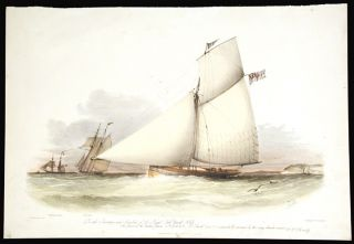 To the Secretary and Members of the Royal Cork Yacht Club This Print of the Cutter Yacht Cygnet...
