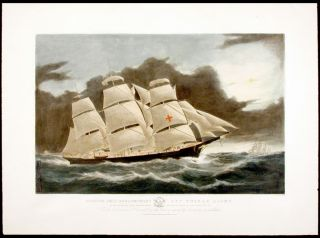 Clipper Ship Dreadnought off Tuskar Light, 12 1/2 days from New York on her celebrated passage...