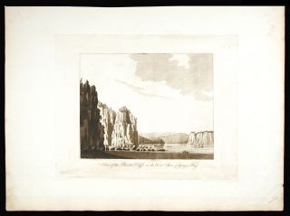 A View of the Plaister Cliffs, on the West Shore of Georges Bay. J. F. W. DES BARRES