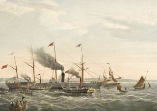 In Commemoration of the Establishment of Steam Navigation between Great Britain and America, the Magnificent Steam Ship the Great Western