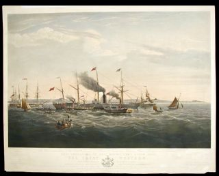In Commemoration of the Establishment of Steam Navigation between Great Britain and America, the...