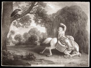 The Farmer's Wife and the Raven. George STUBBS