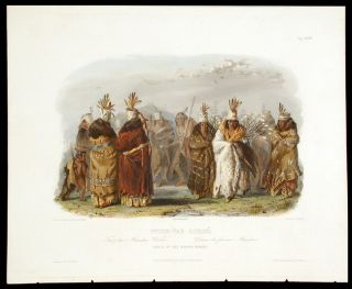 Ptihn-Tak-Ochatä. Dance of the Mandan Women. Karl BODMER