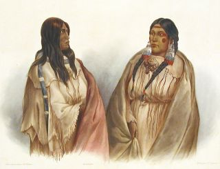 Woman of the Snake Tribe. Woman of the Cree Tribe
