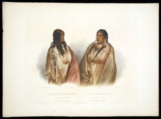 Woman of the Snake Tribe. Woman of the Cree Tribe. Karl BODMER