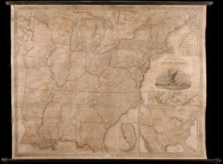 Mitchell's Reference and Distance Map of the United States. S. Augustus MITCHELL, James H. YOUNG, fl
