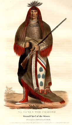 Wa-Na-Ta, The Charger, Grand Chief of the Sioux. Thomas L. MCKENNEY, James HALL