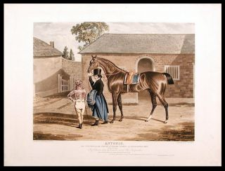 Antonio, the Winner of the Great St. Leger Stakes at Doncaster, 1819, (Fifty Subscribers.) By...