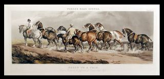 Going to a Fair [Plate I Hunters and hacks]; Going to a Fair [Plate II Cart horses]. After...