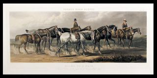 Going to a Fair [Plate I Hunters and hacks]; Going to a Fair [Plate II Cart horses]