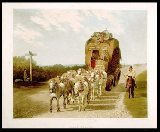 Stage Waggon. After Jacques-Laurent AGASSE.