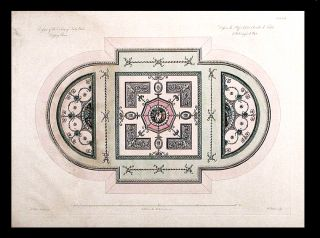 Design of the Ceiling of Lady Bute's Dressing Room. After Robert ADAM