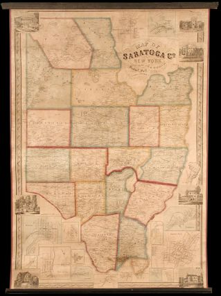 Map of Saratoga Co. New York from Actual Surveys. Samuel GEIL