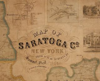 Map of Saratoga Co. New York from Actual Surveys...