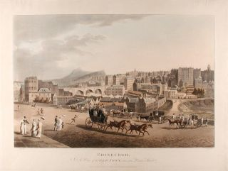 Edinburgh. A View of the Old Town, taken from Princes Street. After A. KAY