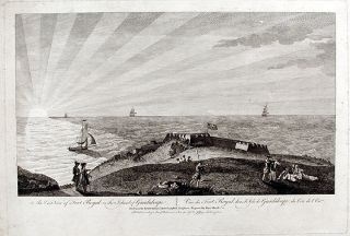 An East View of Fort Royal in the Island of Guadaloupe... Drawn on the Spot by Lieut. Arch....