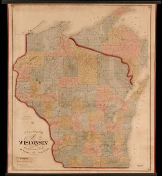 Chapman's Sectional Map of Wisconsin. Silas CHAPMAN