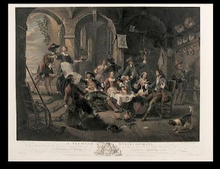 A Flemish Entertainment. From the Original Picture, Painted by Van Harp, In the Collection of the...