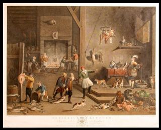 Teniers's Kitchen. In the Common Parlour at Houghton. After David II TENIERS