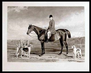Herbert Mascall Curteis, Esqre. Master of the East Sussex Fox Hounds. Stephen PEARCE