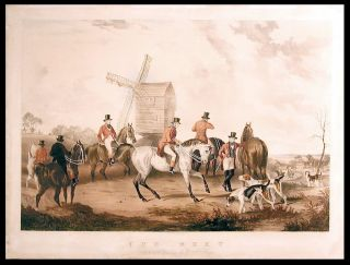 The Meet...; The Return from the Hunt. from a Painting by W.J. Shayer