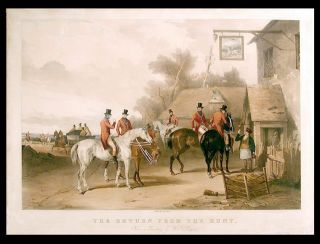 The Meet...; The Return from the Hunt. from a Painting by W.J. Shayer. After William J. SHAYER, 1811