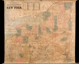 Bridgeman's New Rail Road & Township Map of New York. E. BRIDGEMAN.