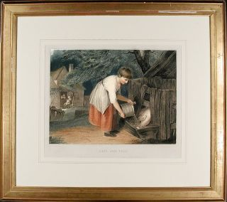 Girl and Pigs. After Richard WESTALL