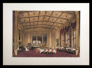 The Private Dining-Room, Windsor Castle. After Joseph NASH