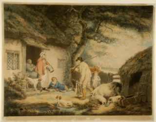 The Warrener. William WARD, after George MORLAND