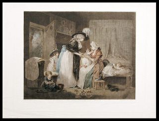A Visit to the Child at Nurse. William after George MORLAND WARD, 1766- 1826