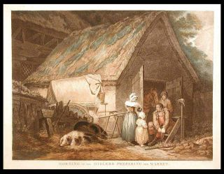 Morning or the Higlers Preparing for Market. Daniel after George MORLAND ORME, 1766- c. 1832