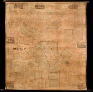Gillette's Map of Oneida Co. New York from actual surveys under the direction of J. H. French. S....