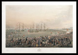 George IV's Embarkation at Kingstown on the 3rd September 1821. Robert I. HAVELL, Robert Havell II