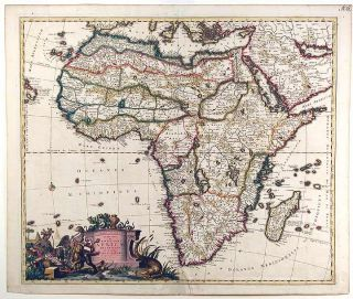The World and Continents - Five Maps]. Carel ALLARD
