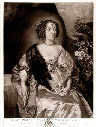 Lady Philadelphia Wharton. Robert after Anthony VAN DYCK DUNKARTON, 1744-c. 1810, 1599 - 1641