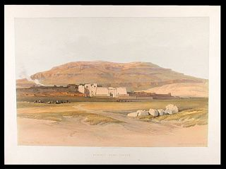 Medinet Abou, Thebes. After David ROBERTS