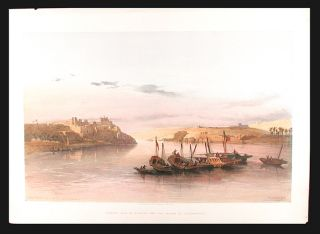 General View of Esouan and the Island of Elephantine. After David ROBERTS