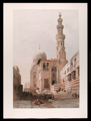 Tombs of the Khalifs, Cairo. After David ROBERTS