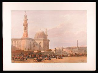 Mosque of Sultan Hassan, From the Great Square of the Rameyleh. After David ROBERTS