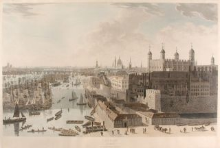 London Plate II [The Tower and Pool of London]. William DANIELL