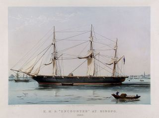 "H. M. S. ""Encounter"" at Ningpo. 1862. A. D. MCARTHUR"