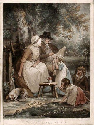 Youth Diverting Age. J. after George MORLAND GROZER