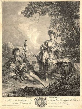 Le Berger Recompensé [The Shepherd Repaid]. François BOUCHER, Robert GAILLARD