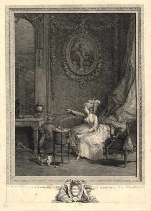 La Consolation de L'Absence. Nicolas after Nicolas LAVREINCE DE LAUNAY