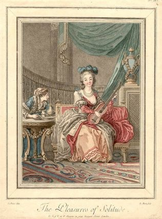 The Pleasures of Solitude. Louis Marin after Jean Baptiste LE PRINCE BONNET
